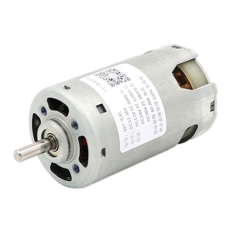 997 powerful DC motor 12-24V high speed 36V high torque motor silent lathe table saw drill motor front and rear ball bearing image