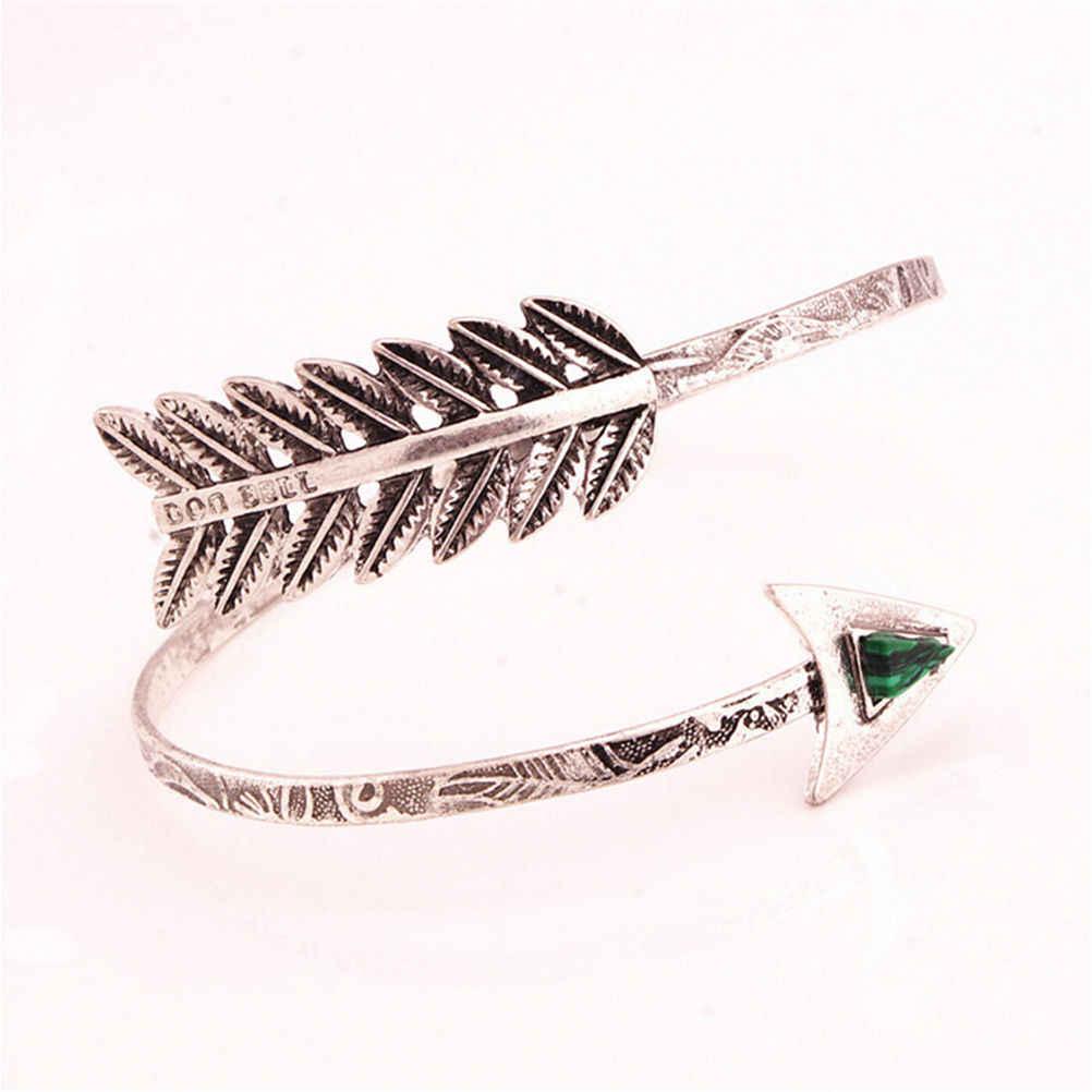 Винтаж Стрелка браслет регулируемые манжеты браслет манжета богемные этнические браслет на предплечье