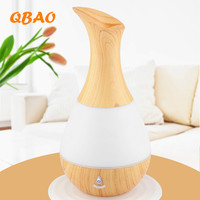Aroma Essential Oil Diffuser Ultrasonic Air Humidifier With Wood Grain 7Color Changing LED Lights For Office