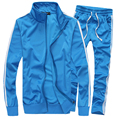 2016 New Fashion Mens Cardigan Stand Collar Suit Set 95%Polyester Hip Hop Mens Casual Sweatshirt Mens Leisure Tracksuit 5XL