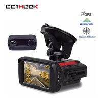 CCTHOOK Car DVR Digital Video Recorder Radar Detector GPS Logger 3 In 1 1080P FHD Ambarella