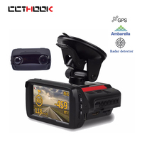 CCTHOOK Car DVR Digital Video Recorder Radar Detector GPS Logger 3 In 1 1080P FHD Ambarella