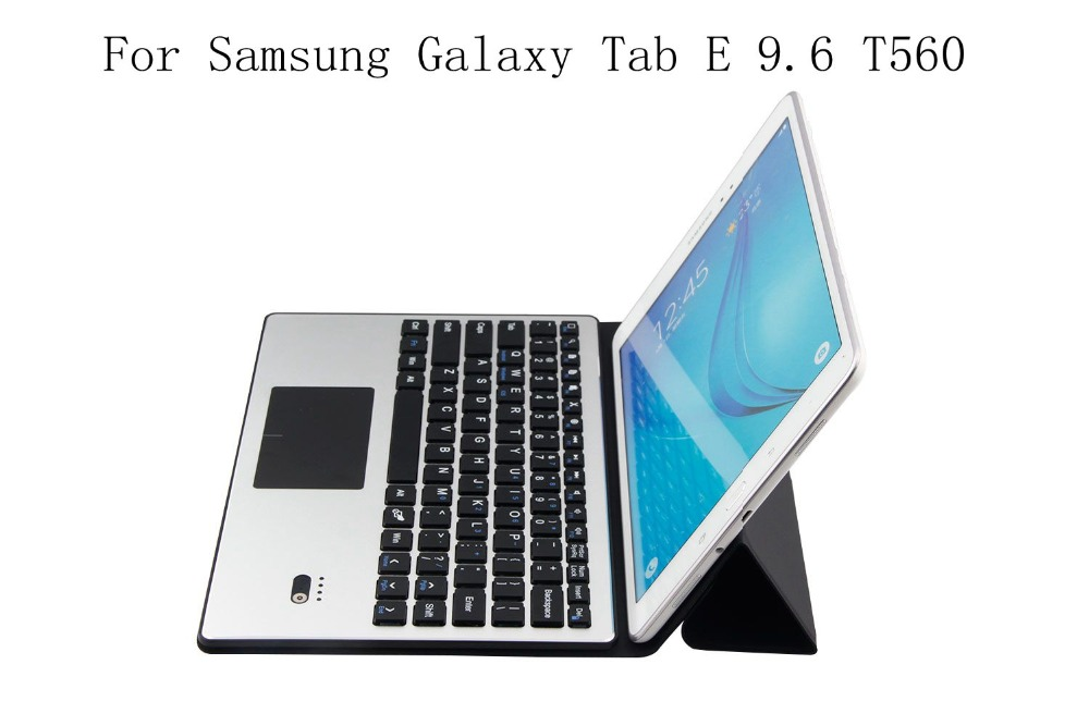 2in1 Bluetooth 3.0 Wireless Keyboard Foldable Case Stand Cover For Samsung Galaxy Tab E 9.6 T560 SM T561 PU Leather Cover+gifts
