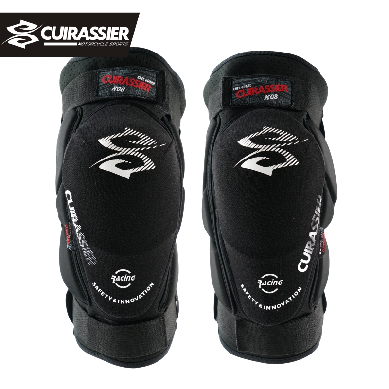 Cuirassier K08 Motorcycle Knee Pads Motocross Knee Protector Guards MTB Protective Kneepad Moto Knee Brace Support  Gear