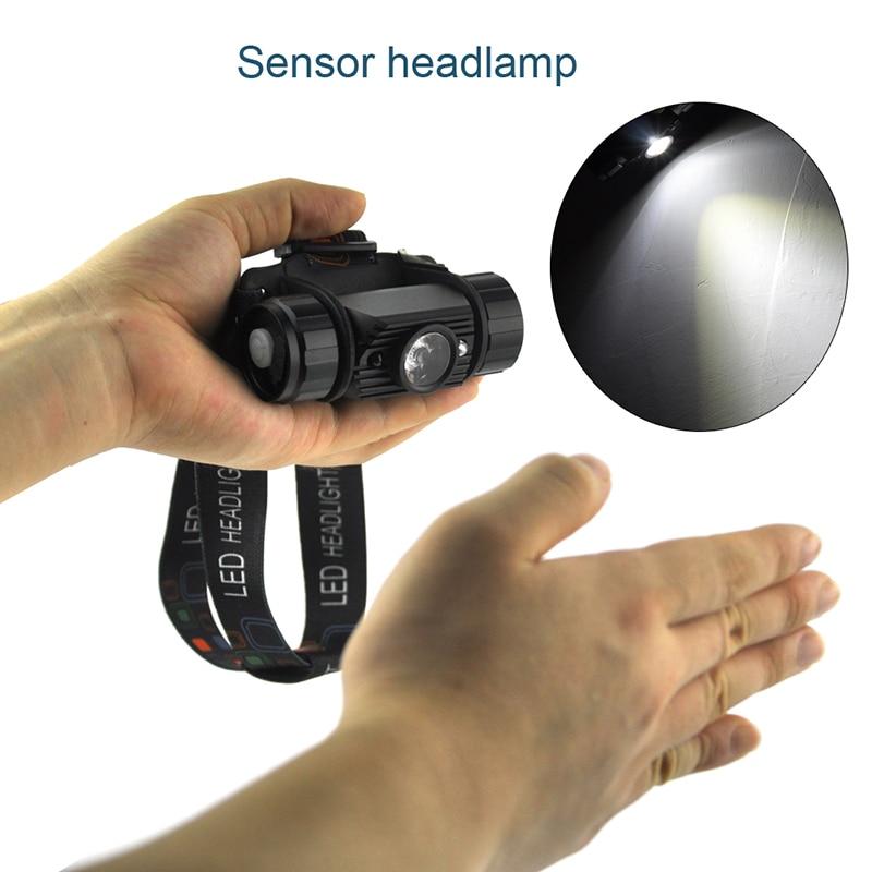 BORUiT 3W Mini IR senzor Indukcija prednjih svjetala USB punjiva - Prijenosna rasvjeta - Foto 3