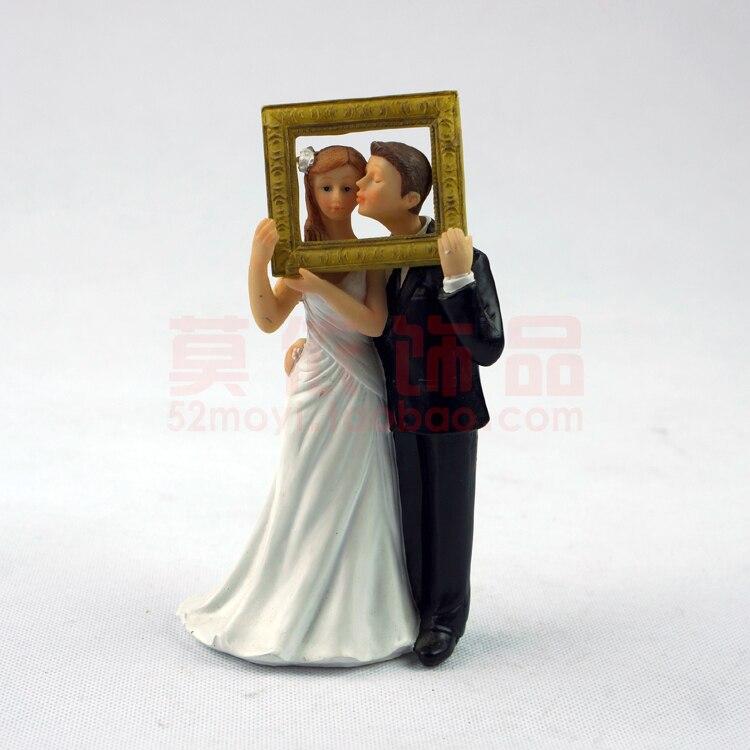 13 82 24 De Reduction Faveur De Mariage Marie Mariee Photo Cadre Doux Calin Romantique Amour Couple Figurine Style Europeen Mariage Decoration De