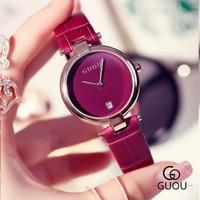Simple Fashion Watch Women Luxury Brand Exquisite Leather Calendar Clock 30M Waterproof Quartz Lady Wrist Watch Relogio Feminino Women Quartz Watches