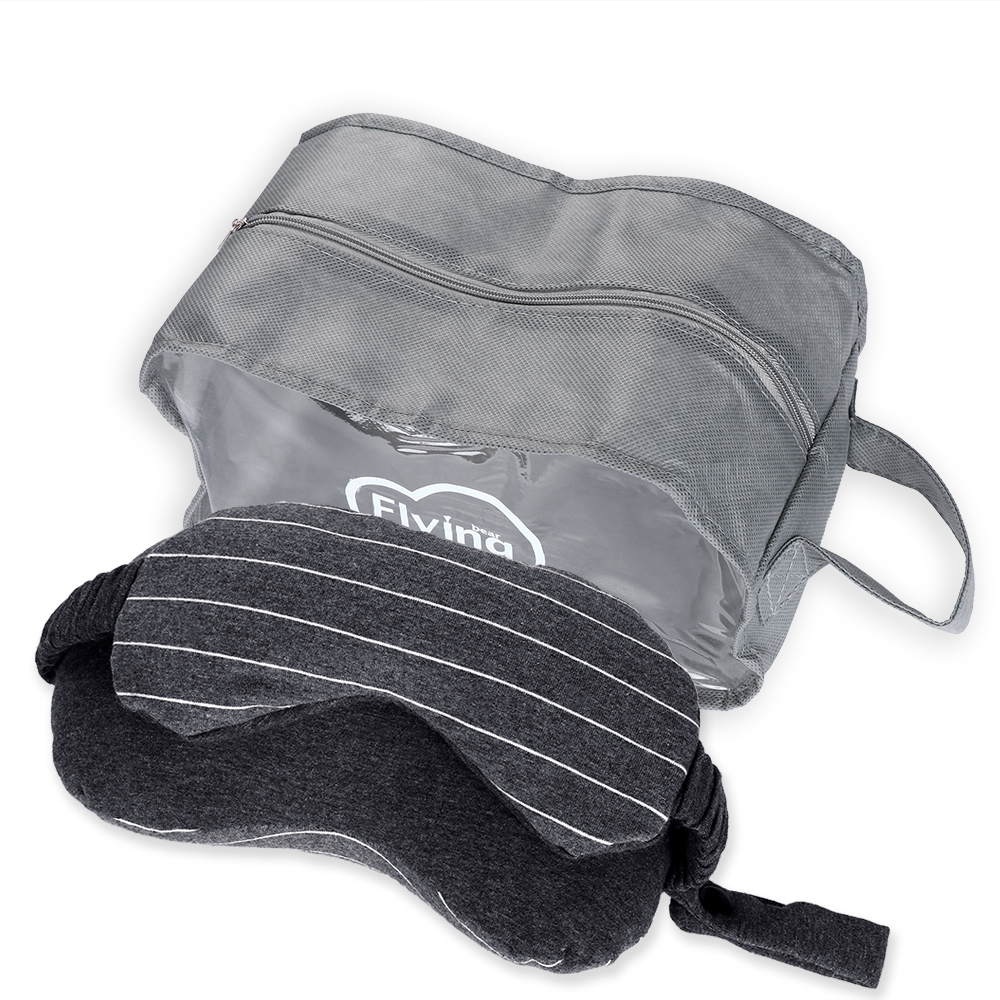 1PC 13*14*24cm Business Travel Neck Pillow & Eye Mask & Storage Bag with Handle Portable Comfortable neck cushion