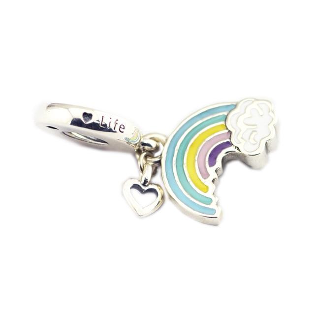 CKK 925 Sterling Silver Arcobaleno Di Amore di Fascino, Misto di fascini Dello S