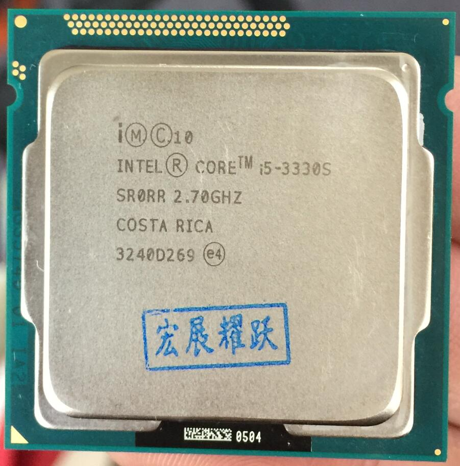 Processeur Intel Core i5 3330 S i5-3330S (Cache 6 M, 2.7 GHz) LGA1155 Quad-CorePC ordinateur de bureau CPU