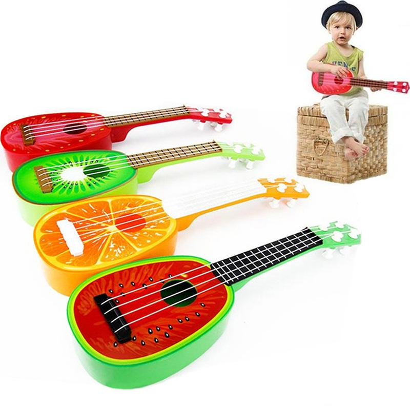 Children Mini Fruit Guitar Toy Infrant Baby Educational Musical Instrument Ukulele Toys Guitar Gifts For Kids