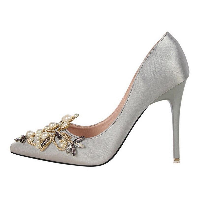 de852c891 elegant designer shoes women luxury 2019 brand rhinestone pearl shoes peep  toe high heels wedding shoes women pumps bigtree shoe-in Women's Pumps from  Shoes ...