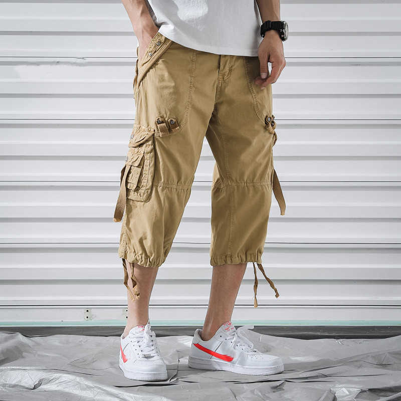 SHIFUREN Men Military Camo Cargo Shorts Summer Fashion Loose Casual Short Pants Baggy Cotton Male Beach Board Trousers Big Size