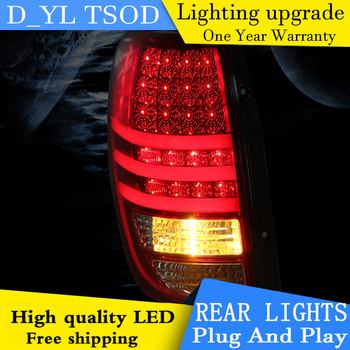 D-YL Car Styling Accessories for Chevolet Captiva LED Taillights 2013-2015 Captiva Tail Light Rear Lamp DRL+Brake+Park+Signal
