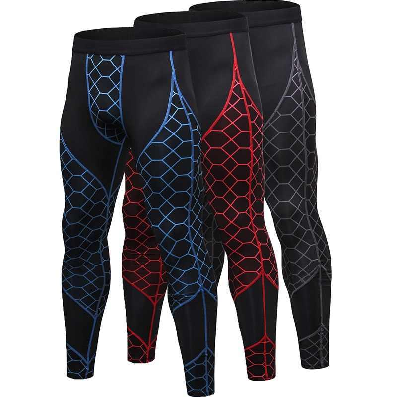 f110567e3 training pants jogging pants men GYM Leggings Compression Underwear Homme  Fitness Trousers Sport Long Pants Black
