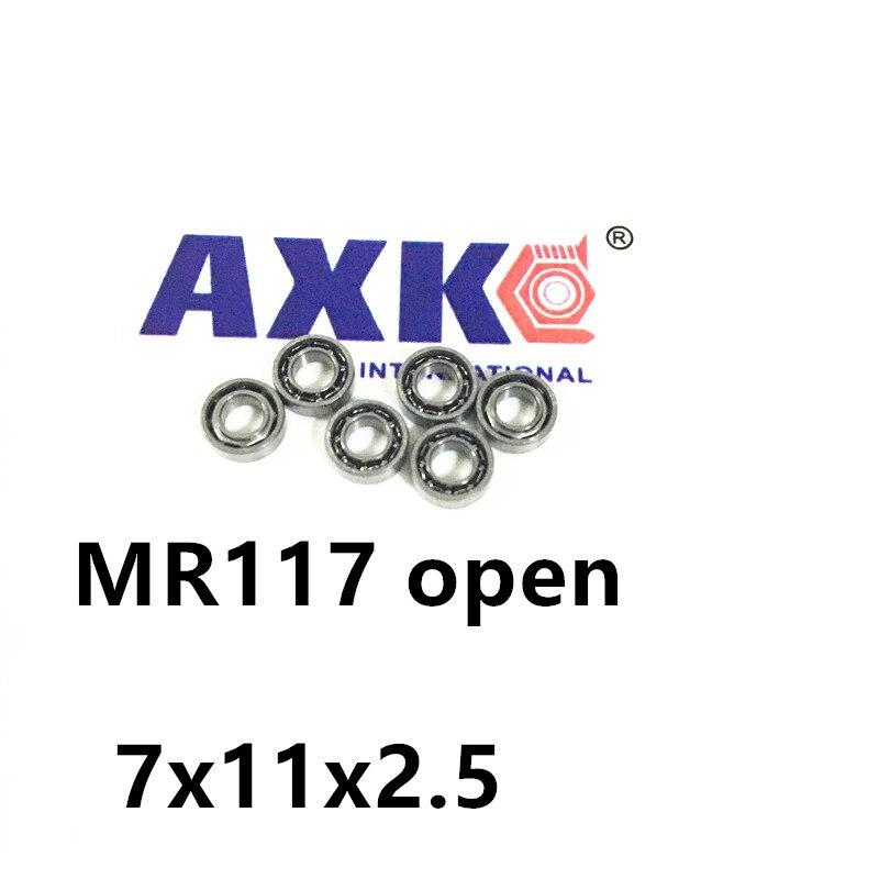 MR117 Bearing ABEC-1  7X11X2.5 mm Miniature MR117- Open Ball Bearings MR117 677 617/7 7*11*2.5 mm 1 7 11