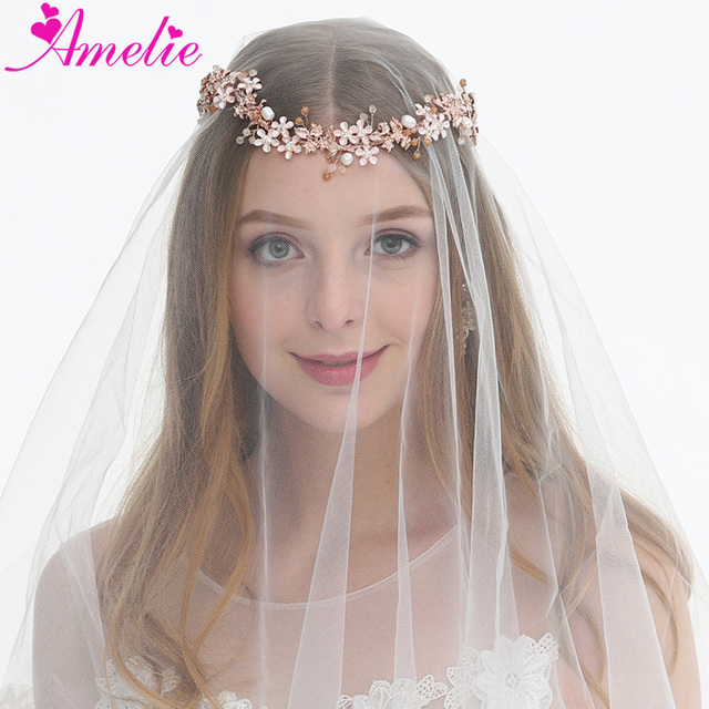 Graduation Season Hair Vine Wedding Rose Gold Headband Enchanted