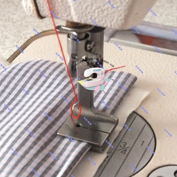 2pcs Industrial sewing machine flat car wrinkle pleated presser foot bottom wrinkled upper flat seam two tie wrinkle