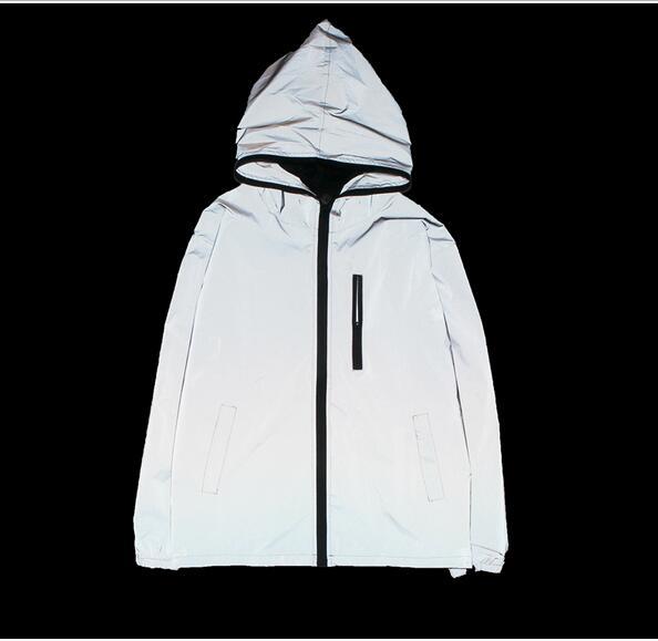 Kostenloser versand Frühling/herbst Männer windjacke 3 m reflektierende jacke lässige hip hop jacken und mäntel ohne logos manteau