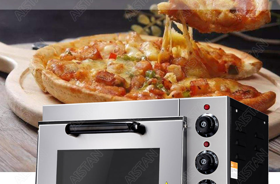 EP1AT electric stainless steel single layer higher chamber pizza oven with timer for baking bread, cake, pizza 5