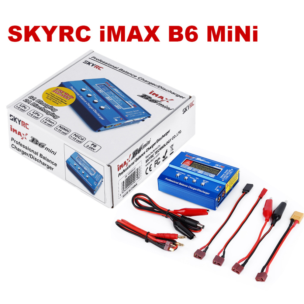 Original SKYRC iMax B6 Mini Lipo Charger Battery Balance Charger DisCharger With XT60 Plug For RC Quadcopter 1pcs 2s 3s 4s 5s 6s balance charger cable lipo battery balance charger cable for imax b3 b6 connector plug wire