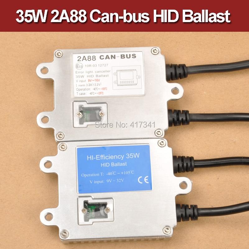 35 W 12 V-24 V meilleure qualité mince Hyluxtek HID Bi xénon Ballast Can-bus 2A88 rapide lumineux voiture phare remplacement