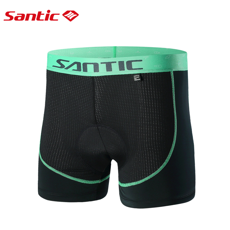 Santic Men Cycling Padded Underwear Shorts Summer Coolmax 4D Pad Shockproof SANTIC R-FEEL Road MTB Cycling Clothings