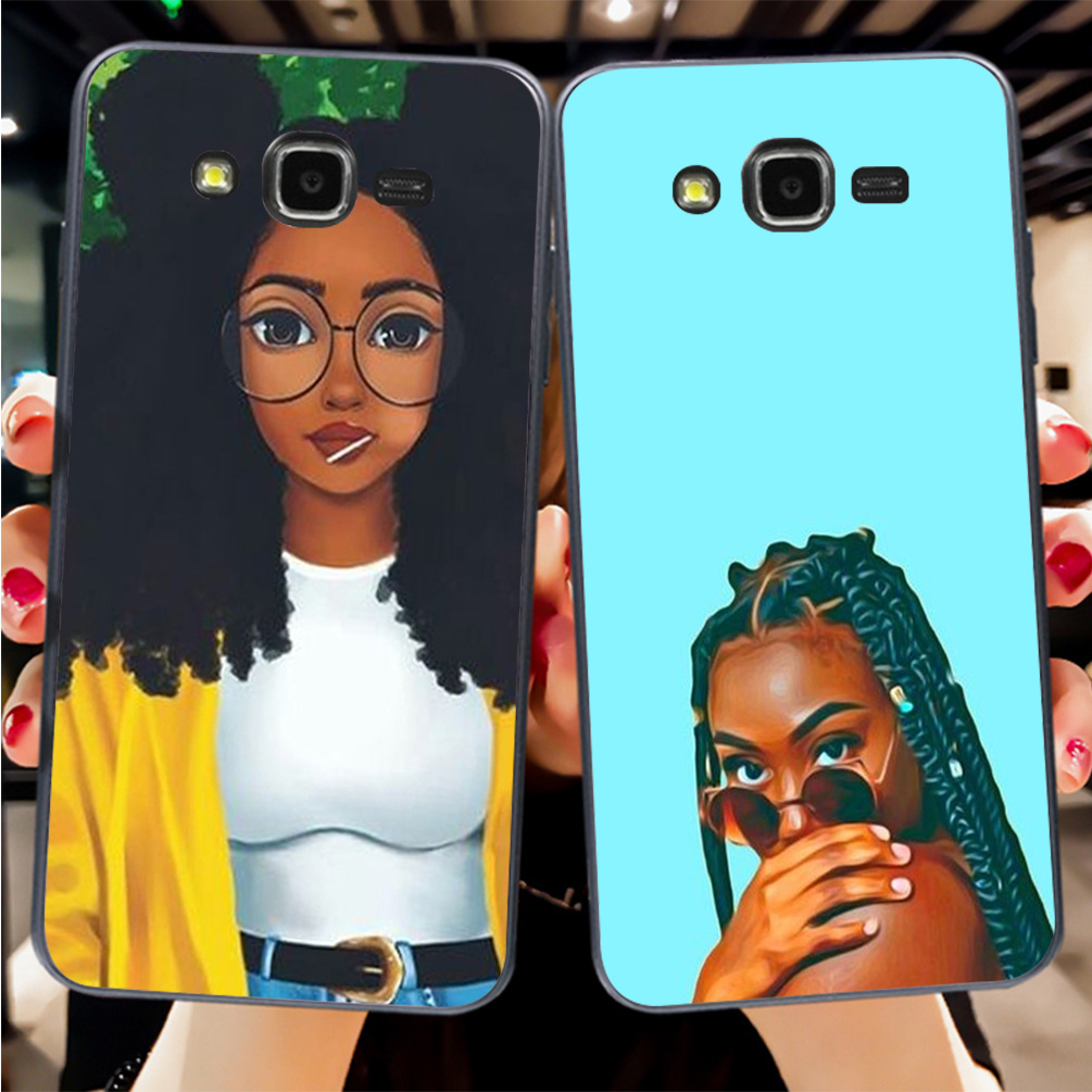 Aiboduo Black Girl Magic Melanin Poppin Cover Case For Samsung J1 J3 J5 2016 or For GALAXY J7 a5 a53 a7 p82