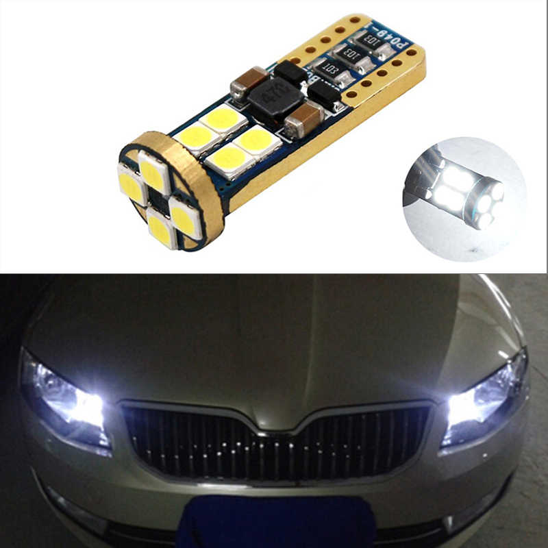 BOAOSI 1x T10 LED W5W サムスン車の Led 自動車ランプ電球シュコダオクタ 2 a7 a5 ファビアラピッドイエティ極上のファビア