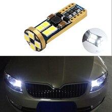 BOAOSI 1x T10 LED W5W Samsung Car LED Auto Lamp Light Bulbs For Skoda octavia 2 a7 a5 fabia rapid yeti superb Fabia