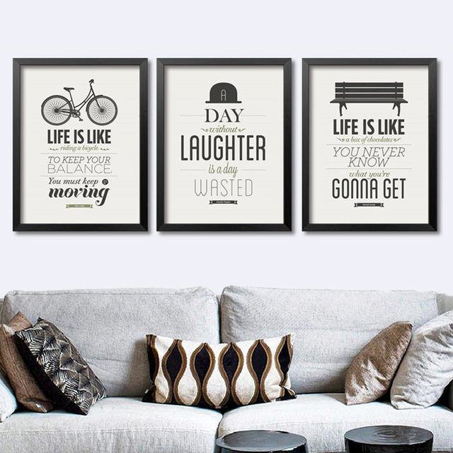 Modern Inspiring Life Quote Art Painting Posters And Prints Wall Pictures  For Company Home Decor Modular Art Pictures DP0004