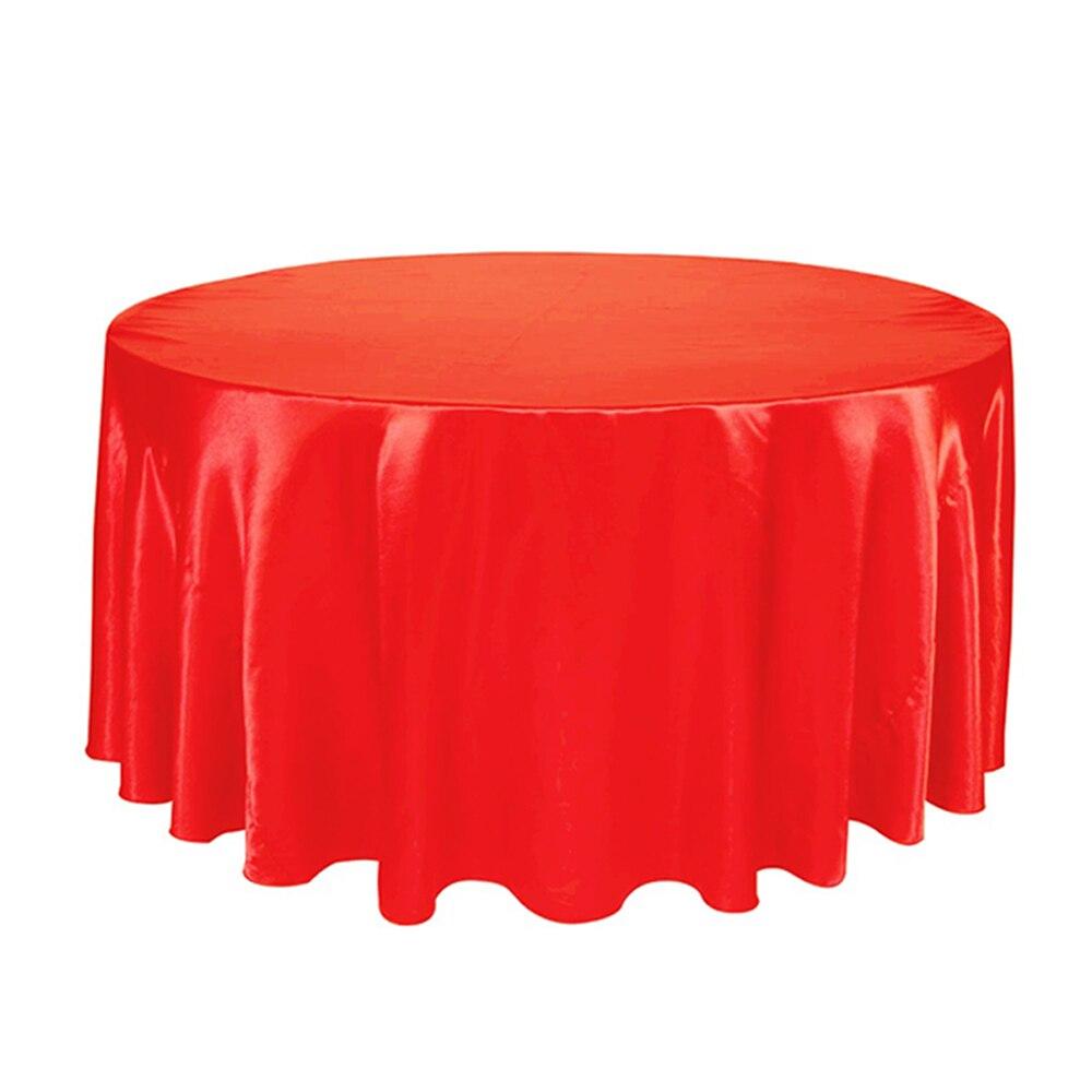 10 piezas de lujo mantel de mesa redonda de poliéster de satén cubierta de mesa a prueba de aceite para fiestas de boda restaurante banquete decoración del hogar-in Manteles from Hogar y Mascotas    3