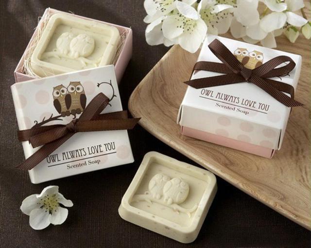 Ручной работы сова Дизайн Для ванной Мыло свадьба Валентина партии любовь подарок сова Мыло 3mar24dropship