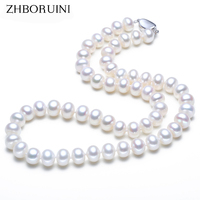 ZHBORUINI Pearl Necklace Natural Freshwater Pearl Choker Necklace Pearl Jewelry 925 Sterling Silver Jewelry For Women Wholesale
