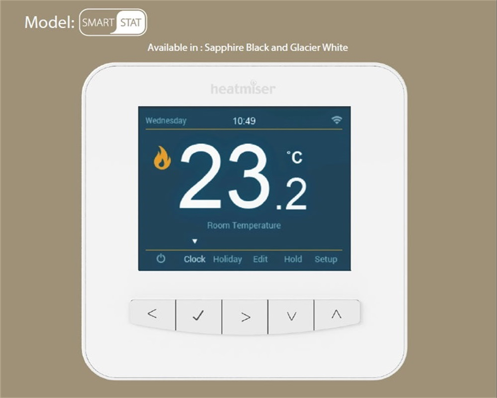 Programmable Colorful Wifi Thermostat for Floor Heating and Boiler Controlled by  Android and IOS phones within 15 days delivery 7 days 6 1 days 5 2 days programming wireless floor heating thermostat valve for heating systems