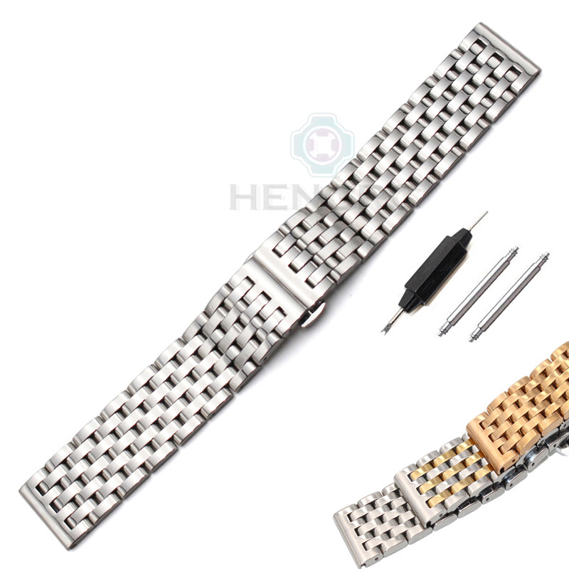 20mm 22mm Stainless Steel Watch Band Bracelet New High Quality Womens Men Metal Polished Strap Watchbands Accessories