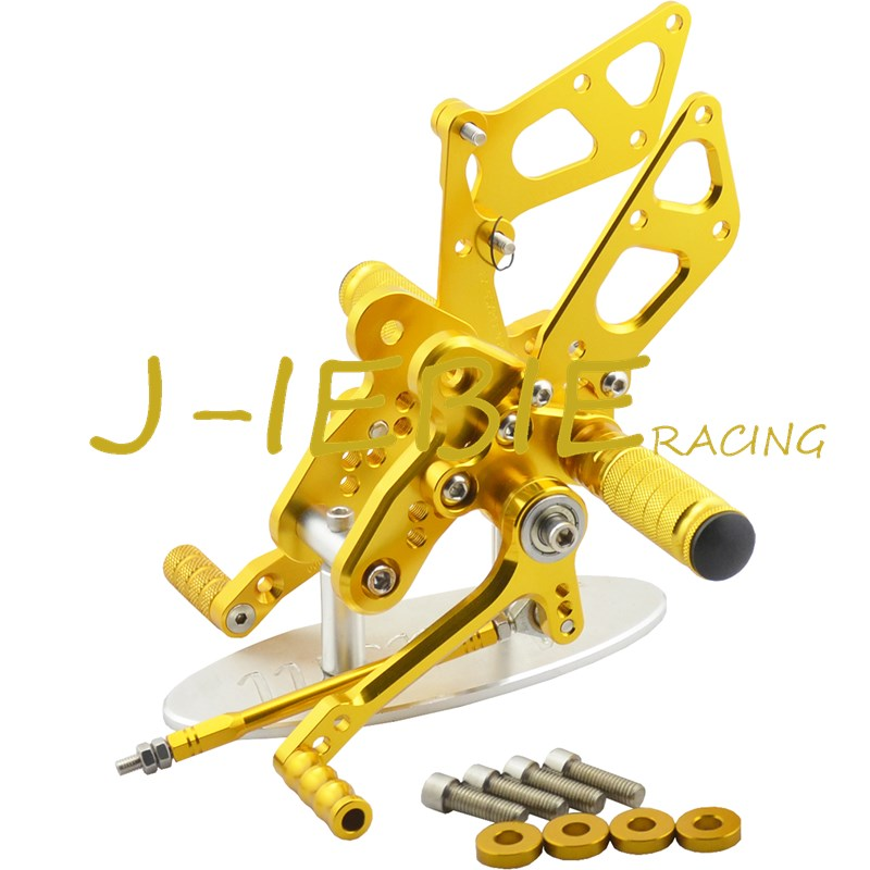 CNC Racing Rearset Adjustable Rear Sets Foot pegs Fit For Suzuki GSXR1300 Hayabusa 1999-2016 GOLD titanium cnc aluminum racing adjustable rearset foot pegs rear sets for yamaha mt 07 fz 07 mt07 fz07 2013 2014 2015 2016