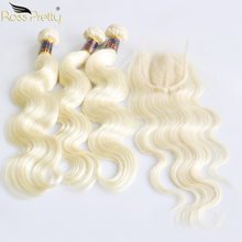 Ross Pretty Remy Blonde Hair Bundles With Closure Brazilian Body Wave Lace Closure With Bundles Human Hair Weave Color 613 613 body wave human hair bundle with closure blonde indian hair weave bundles with lace closure colored remy hair with closure