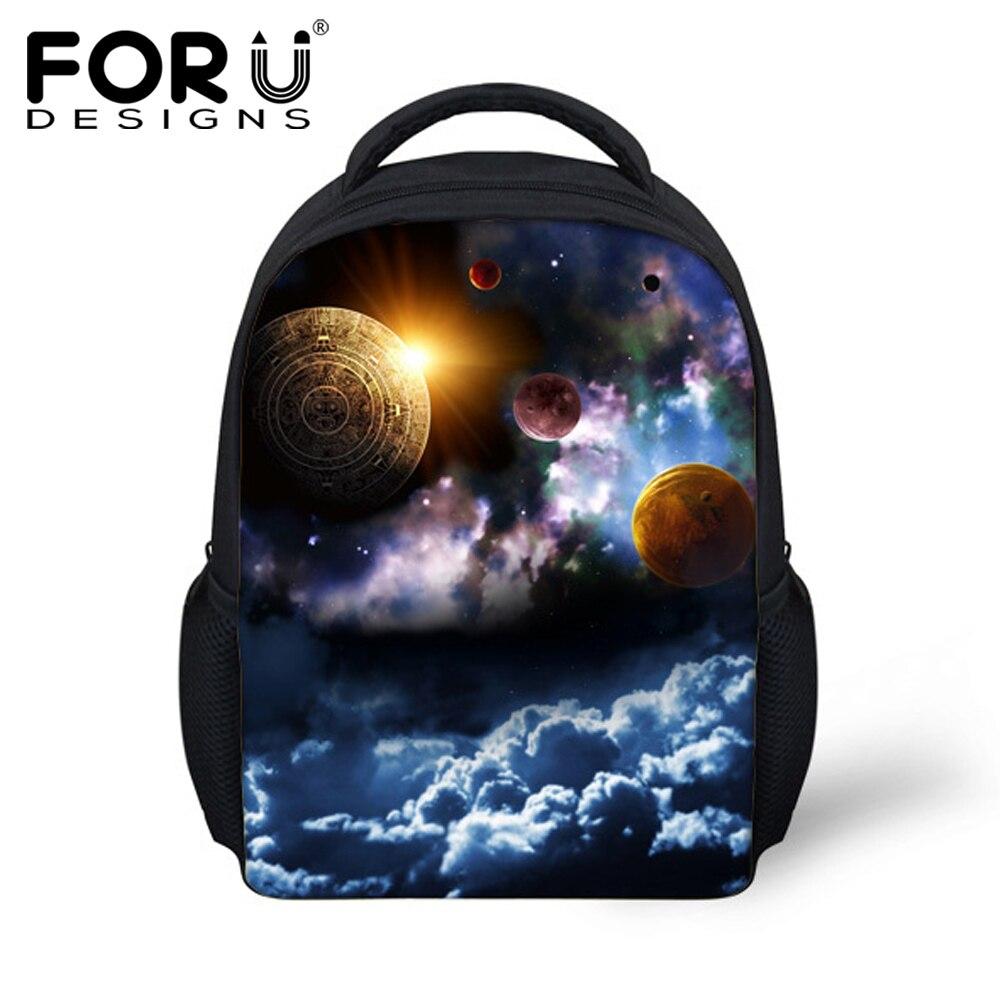 FORUDESIGNS Fashion 3D Galaxy Children Backpacks For Kids Boys Girls Casual School Book Bagpack Mochilas Infantil Rucksack Bags цена 2016