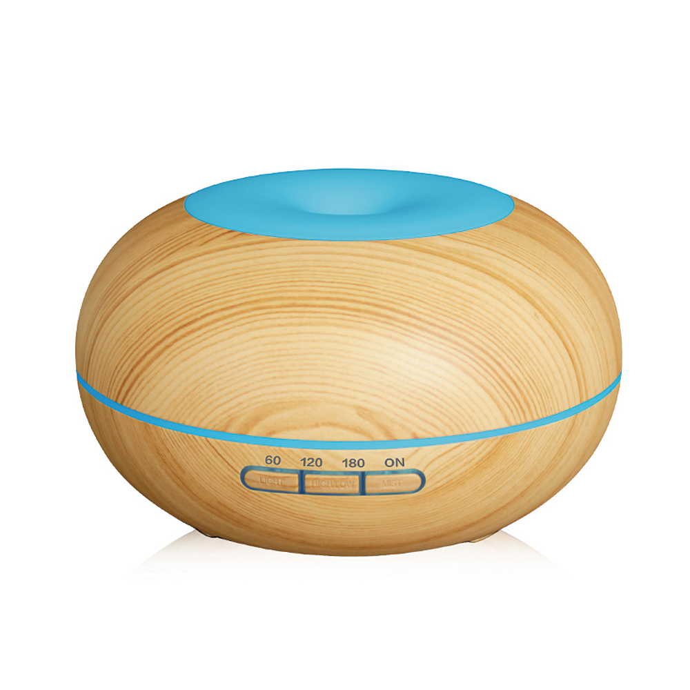 300ml Air Humidifier Aromatherapy Essential Oil Diffuser Wood Grain Ultrasonic Cool Mist Humidifier for Office Home Bedroom Spa цена и фото