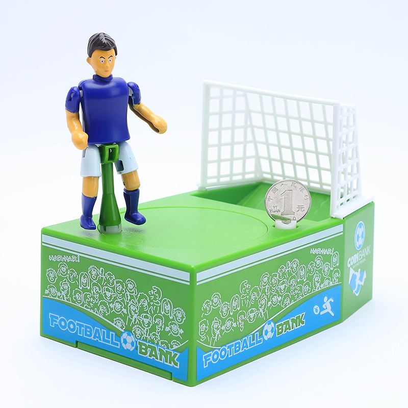 eaf416498c6 Football Field Piggy Bank Soccer Coin Holder Saving Money Jar Box Creative Soccer  Fan Chlidren Birthday