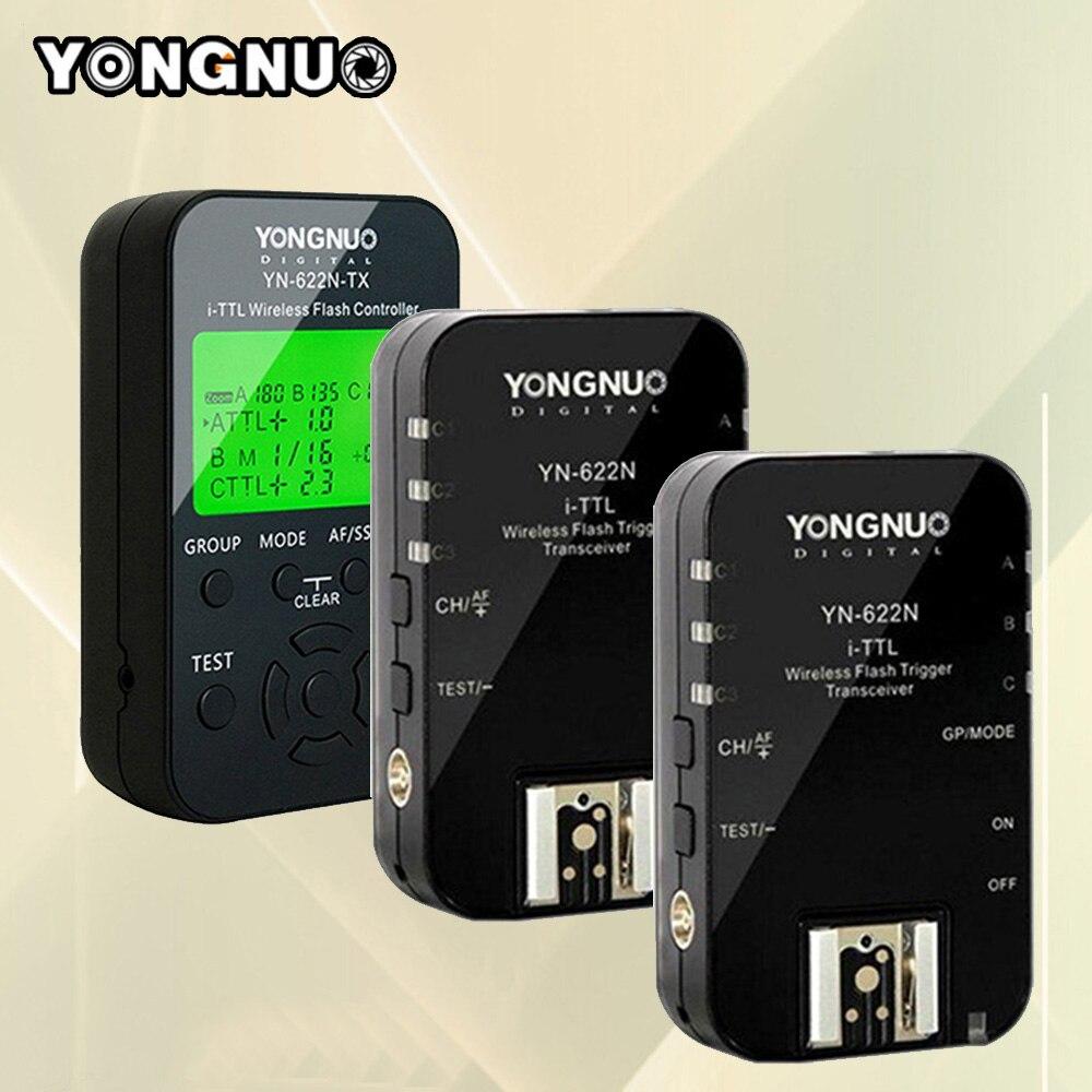 2pcs Yongnuo YN622N + YN622N-TX i-TLL Wireless Flash Trigger Transceiver For Nikon D7100 D5200 D5100 D5000 D3200 D3100 Cameras2pcs Yongnuo YN622N + YN622N-TX i-TLL Wireless Flash Trigger Transceiver For Nikon D7100 D5200 D5100 D5000 D3200 D3100 Cameras
