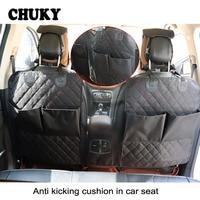 CHUKY Autostoel Back Anti Vuile Mat Anti-Kind-Kick Pad Organizer Bag Voor Ford Focus 2 3 VW Passat B6 B5 B7 Toyota Avensis Skoda