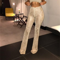 Women New Fashion Sexy Pants Hollow Out Solid Wide Leg Casual Pant Female 2018 Summer Loose Women Trousers