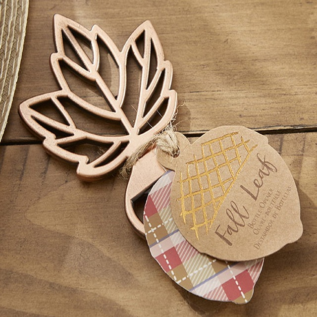 100pcs/LOT)FREE SHIPPING+Copper Leaf Bottle Opener Autumn Themed ...