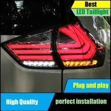 Car Styling Taillight For Nissan X-Trail Rouge 2014 2015 2016 Taillights LED Tail Rear Lamp Driving+Brake+Park+Signal light цена в Москве и Питере