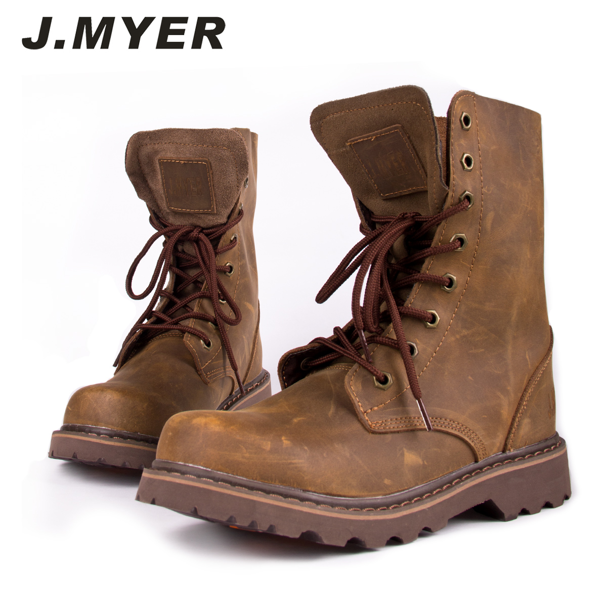 J . myer jiemai male tooling knee-high men s boots fashion martin boots  cowhide high lyrate leather 627a97b18