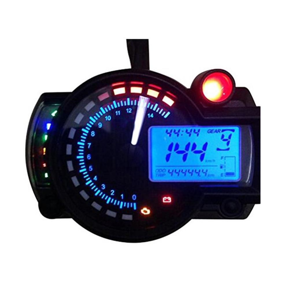 Digital Odometer Gauge : Lcd digital speedometer universal motorcycle dirt bike