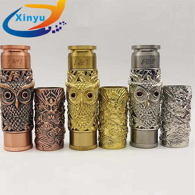 NEWEST AV kustohm MOD vs Dragon shape MOD Mechanical Mod 18650 Battery 24mm mech mod fit 510 thread Vaporizer Atomizers RDA