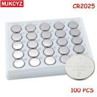 100 pçs/lote CR2025 3V Botão de Célula tipo Moeda de lítio Bateria de Iões de lítio ECR2025 DL2025 BR2025 KL2025 L2025 Relógios  relógios brinquedos
